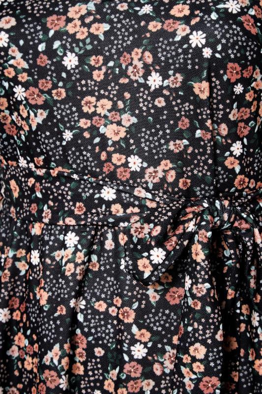 YOURS LONDON Black Ditsy Keyhole Midi Dress_S.jpg