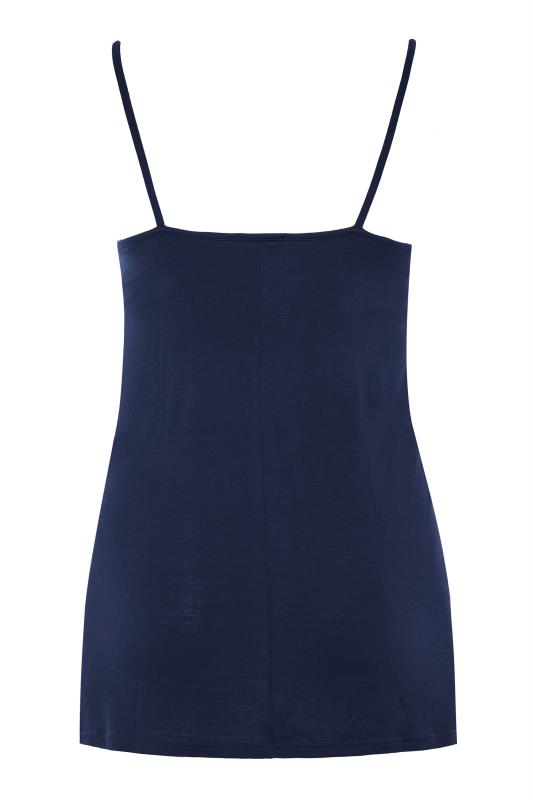 BUMP IT UP MATERNITY Navy Cami with Secret Support_BK.jpg