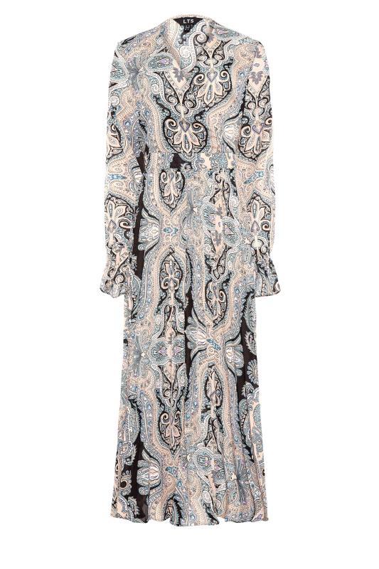 LTS Natural Paisley Print Long Sleeve Pleat Dress_F.jpg