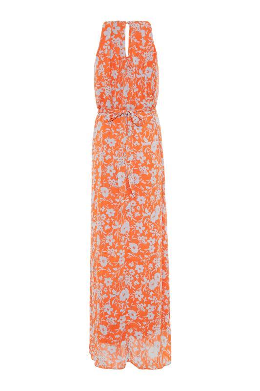LTS Orange Floral Halter Neck Maxi Dress_BK.jpg