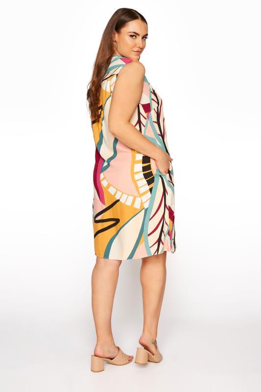 Beige Abstract Midi Dress_C.jpg