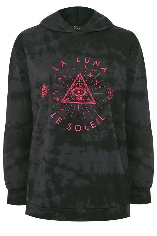LIMITED COLLECTION Sweatshirt mit Astrologie-Druck - Grau/Neon Rosa