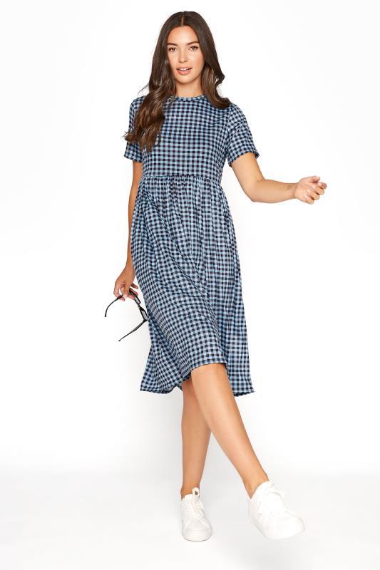 LTS Blue Gingham Smock Dress