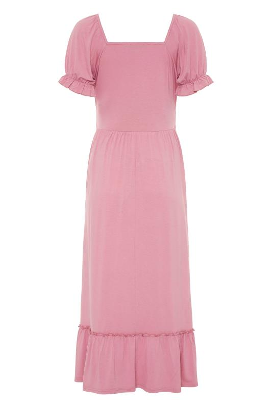 LTS Maternity Dusky Pink Milkmaid Dress_BK.jpg