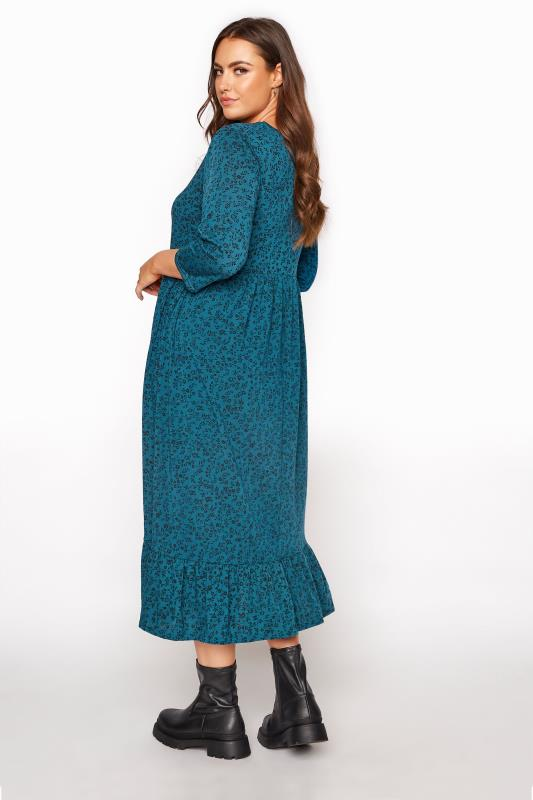 LIMITED COLLECTION Blue Floral Smock Midaxi Dress_C.jpg