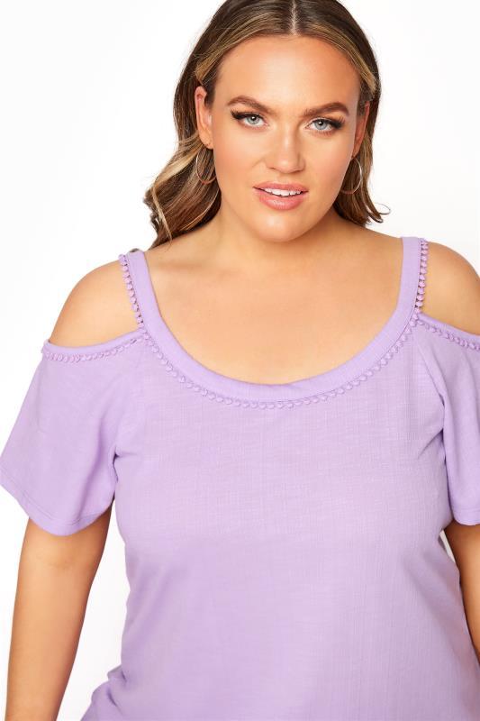 Lilac Cold Shoulder Strap T-Shirt_D.jpg
