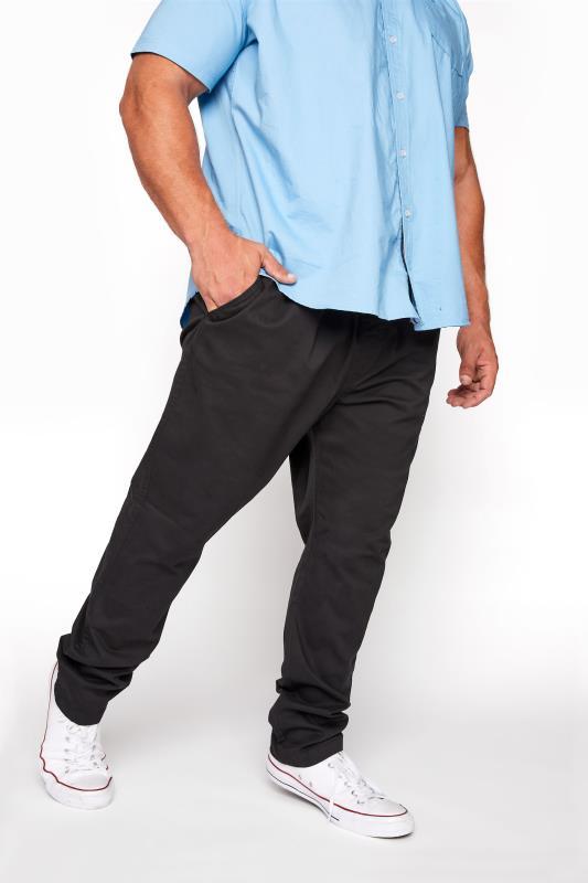 BadRhino Black Elasticated Waist Rugby Trousers_B.jpg