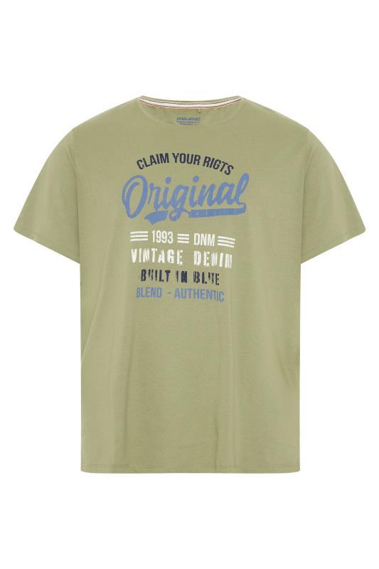 Großen Größen  BLEND Khaki Original T-Shirt