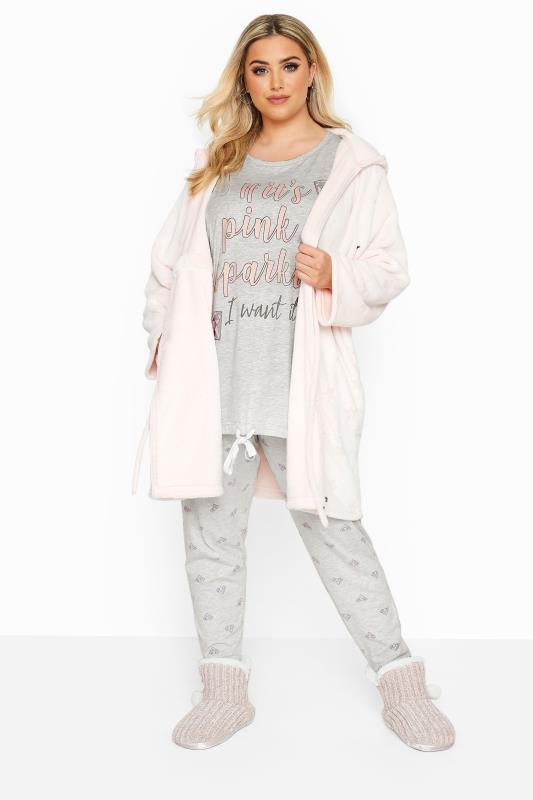Grey & Pink Glitter Slogan Drawstring Pyjama Set_B.jpg