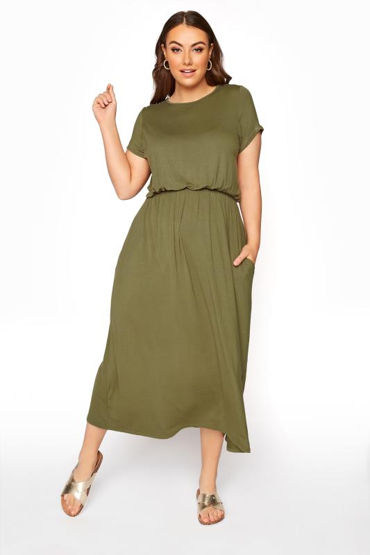 YOURS LONDON Khaki Pocket Maxi Dress