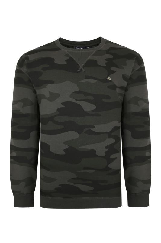 Plus Size  ESPIONAGE Green Camo Print Sweatshirt