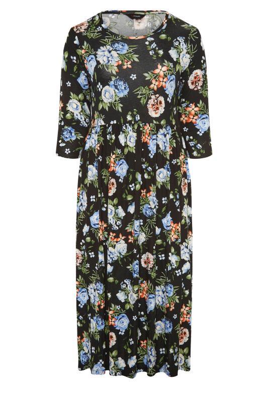 Black Pocket Floral Midaxi Dress_F.jpg