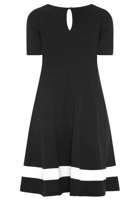 YOURS LONDON Black Notch Neck Skater Dress_BK.jpg