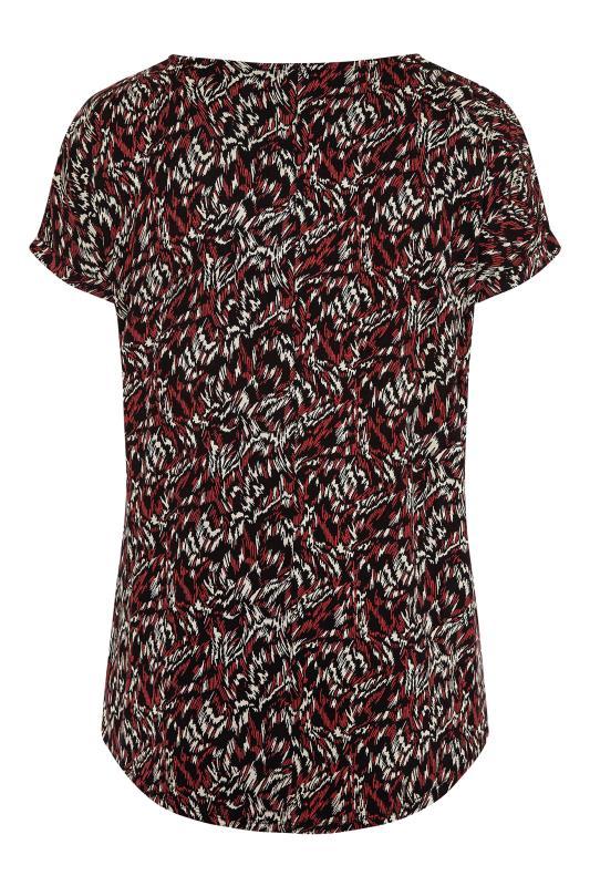 Black Abstract Shoulder Detail T-Shirt_BK.jpg