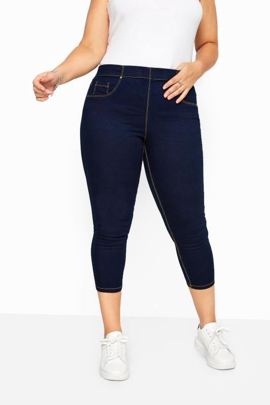 Plus Size Jeggings Indigo Blue Cropped JENNY Jeggings