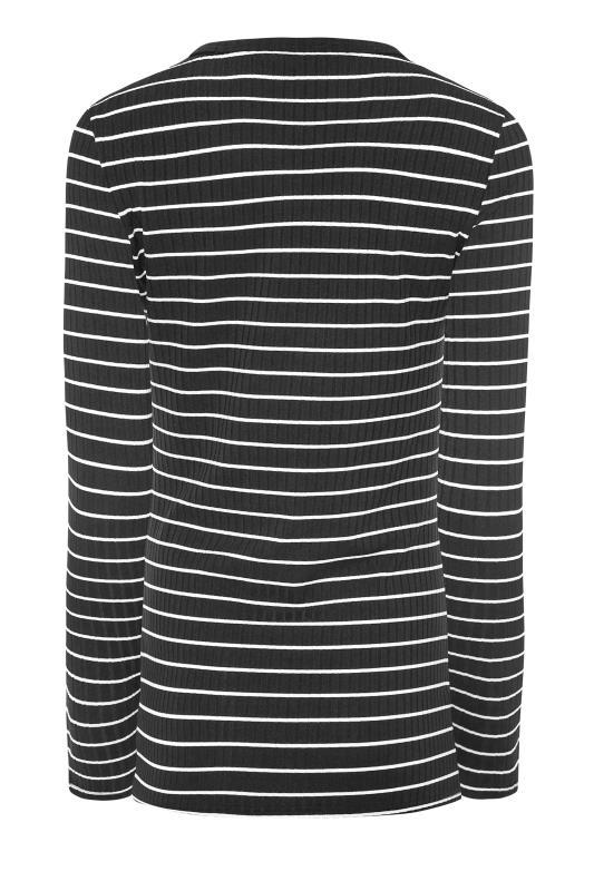LTS Black Stripe Ribbed Top_BK.jpg