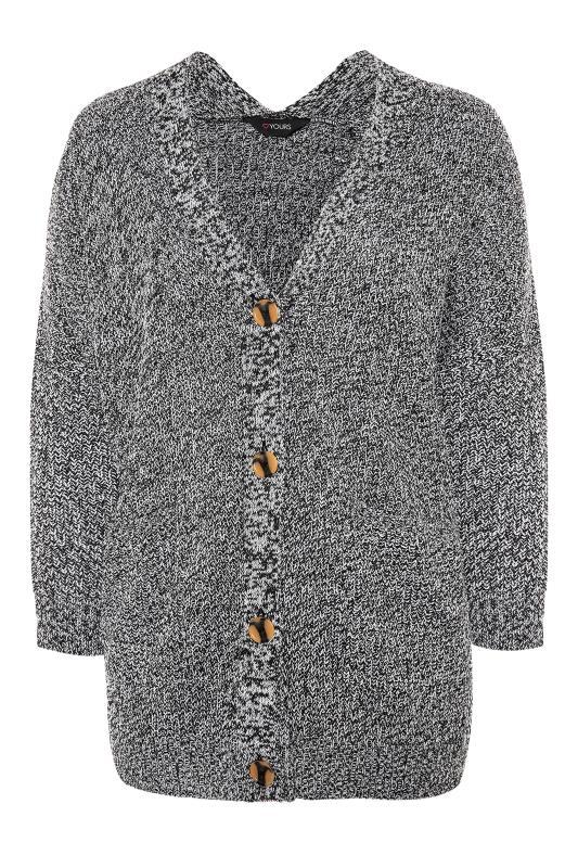 Grey Mono Button Knitted Cardigan_F.jpg