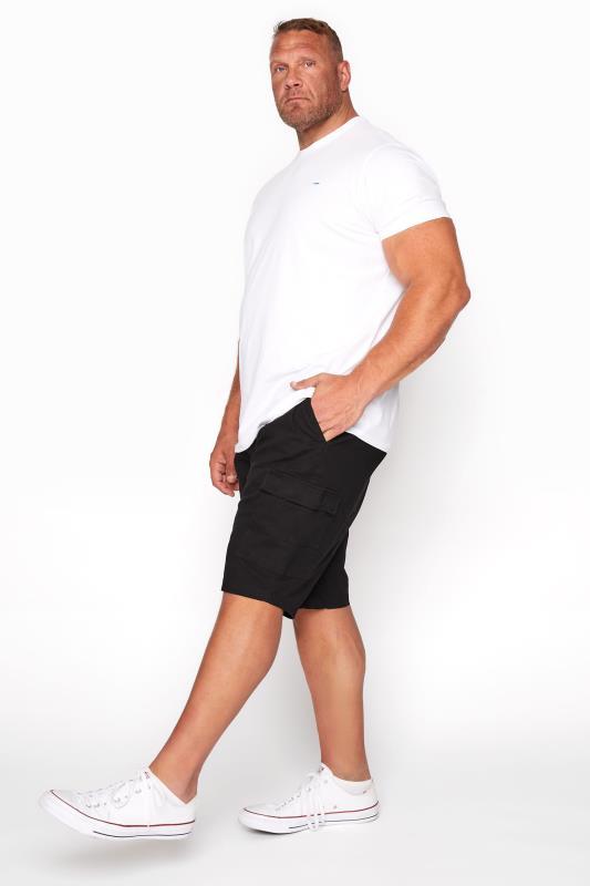 Men's  BadRhino Black Stretch Cargo Shorts