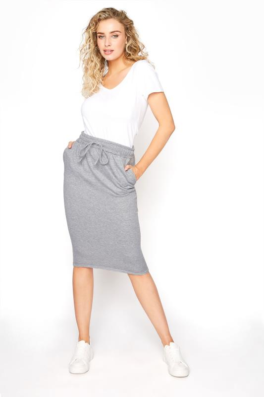 LTS Grey Marl Jersey Sweat Skirt