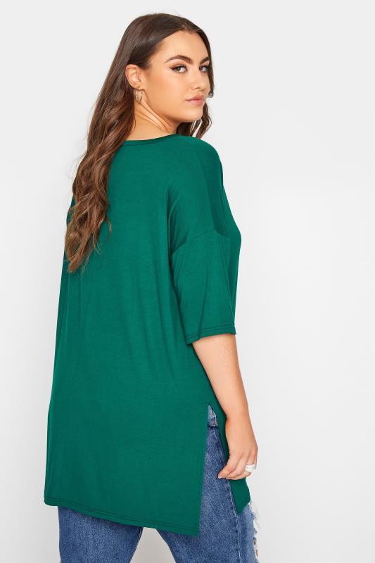 Emerald Green Oversized Jersey T-Shirt_C.jpg
