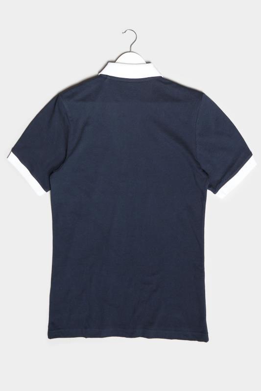BadRhino Navy & White Contrast Polo Shirt_BK.jpg