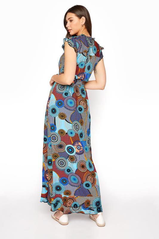 LTS Blue Circle Frill Wrap Maxi Dress_C.jpg
