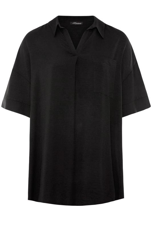 THE LIMITED EDIT Black Pleated Front Top_F.jpg