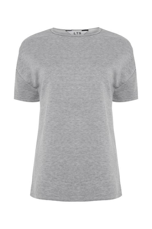 LTS Grey Marl Jersey Sweat T-Shirt_F.jpg
