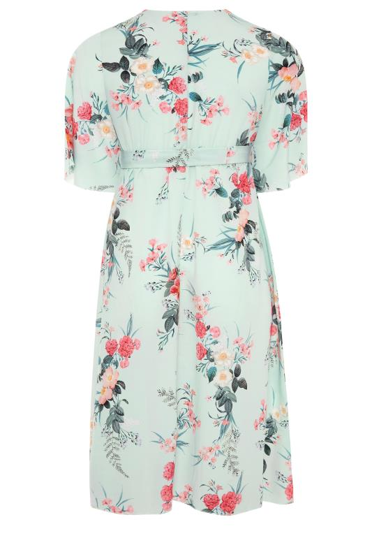 YOURS LONDON Sage Floral Wrap Dress_BK.jpg