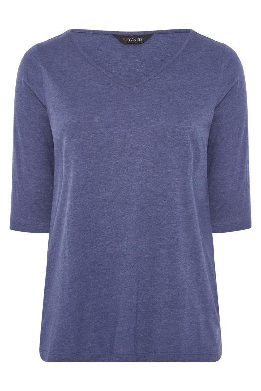 Denim Blue Marl V-Neck T-shirt_F.jpg