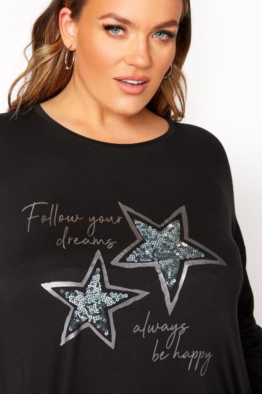 Black 'Follow Your Dreams' Slogan Sweatshirt_D.jpg