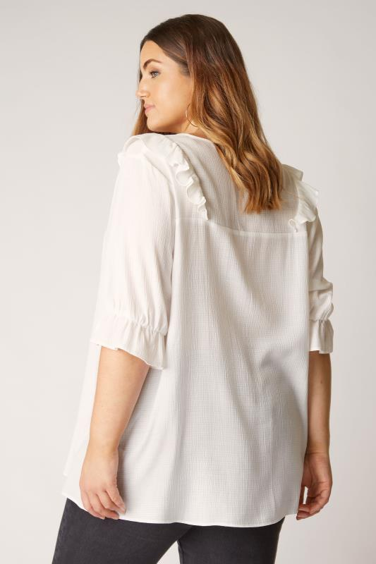 THE LIMITED EDIT White Button Frill Blouse_C.jpg