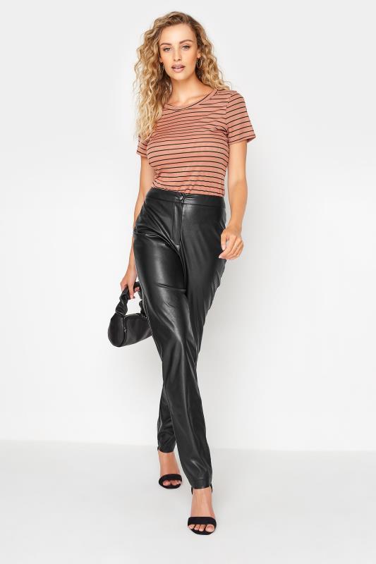 LTS Black Faux Leather Slim Leg Trousers_A.jpg