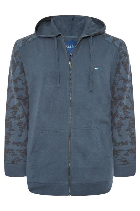 Men's  BadRhino Blue Camo Raglan Zip Through Hoodie