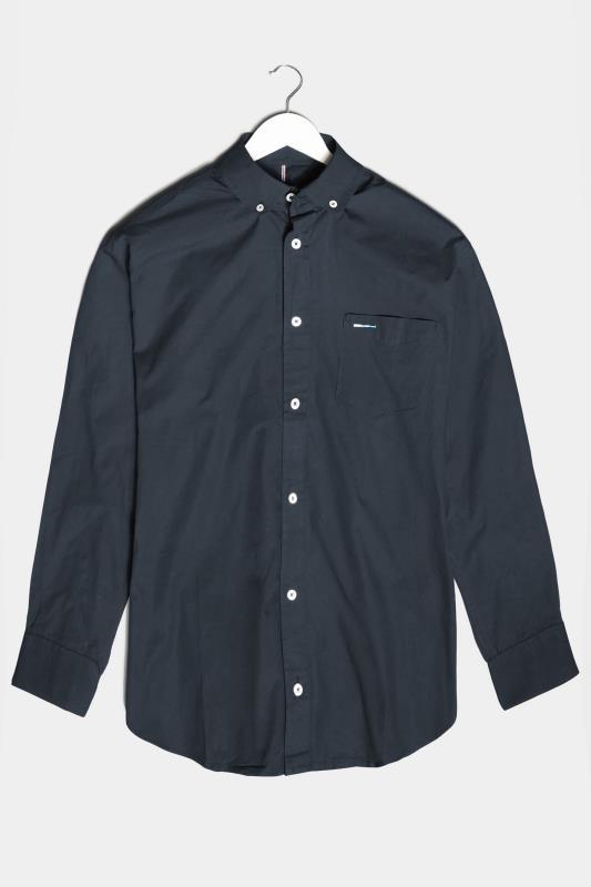 Men's  BadRhino Navy Cotton Poplin Long Sleeve Shirt