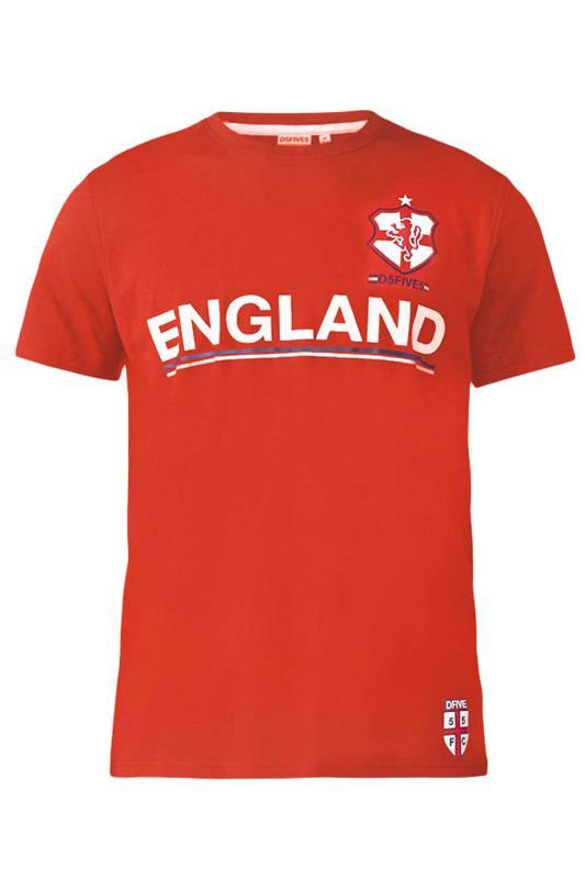 Großen Größen  D555 Red England T-Shirt