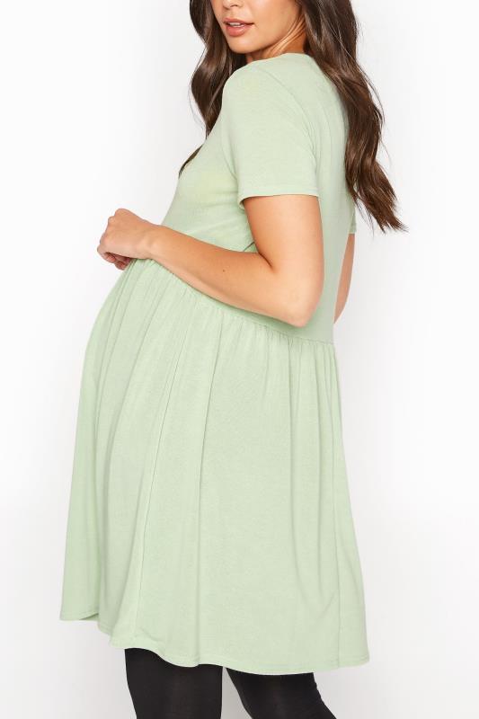 LTS Maternity Green Smock Top_C.jpg
