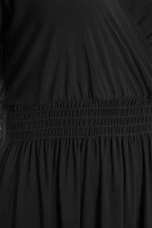 YOURS LONDON Black Wrap Midaxi Dress_S.jpg