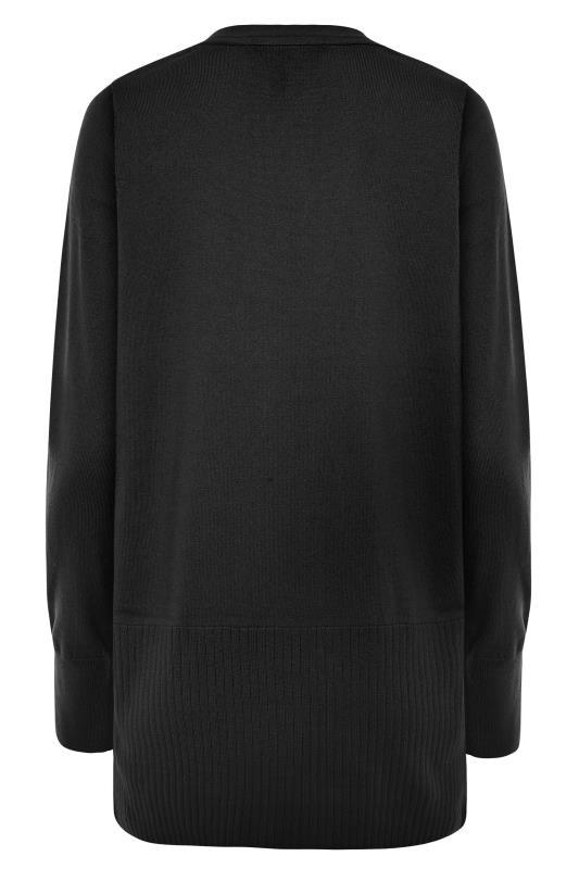 Black Cotton Ribbed Trim Cardigan_BK.jpg