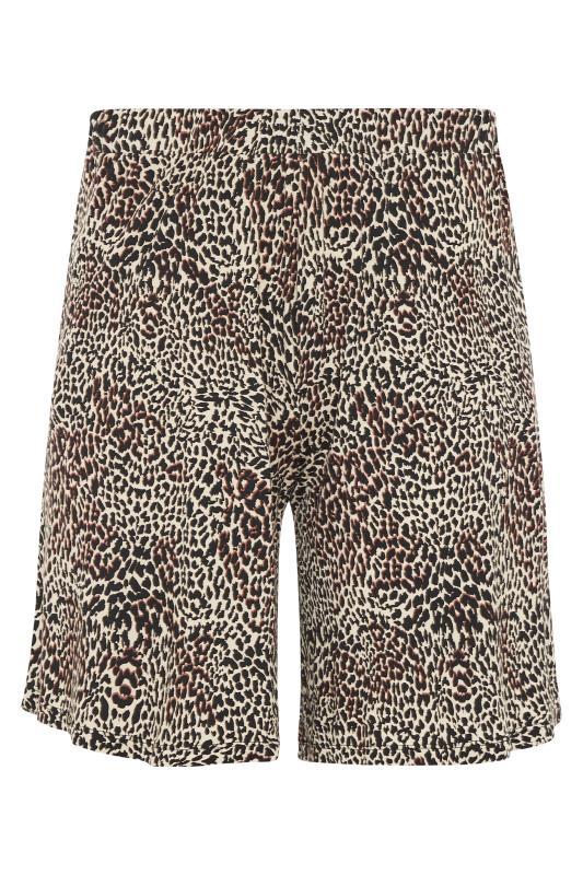 Brown Animal Print Jersey Shorts_F.jpg