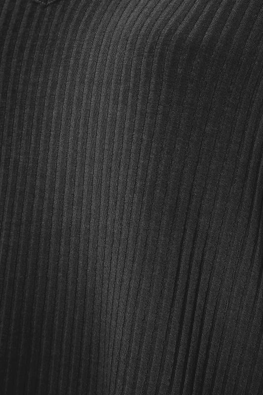 Black Soft Rib V-Neck Top_S.jpg
