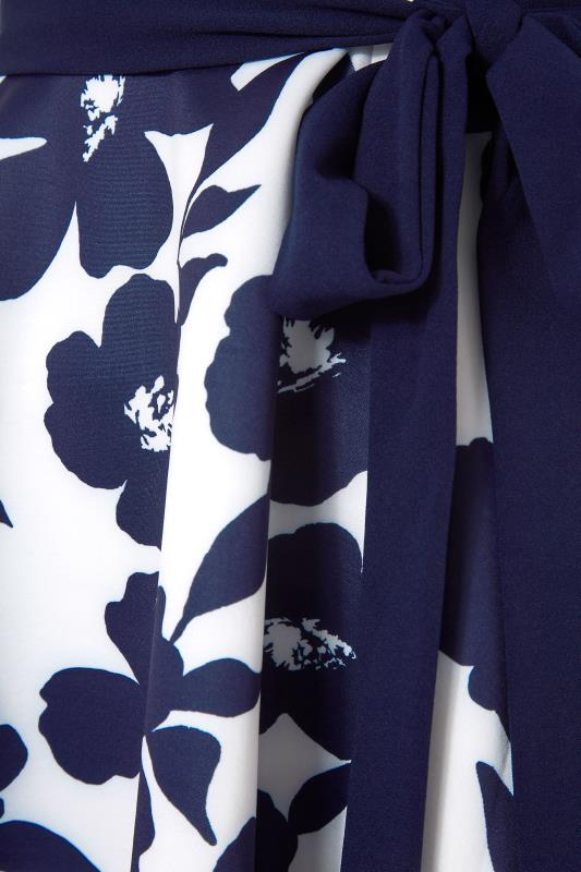 YOURS LONDON Navy Floral Square Neck Dress_S.jpg
