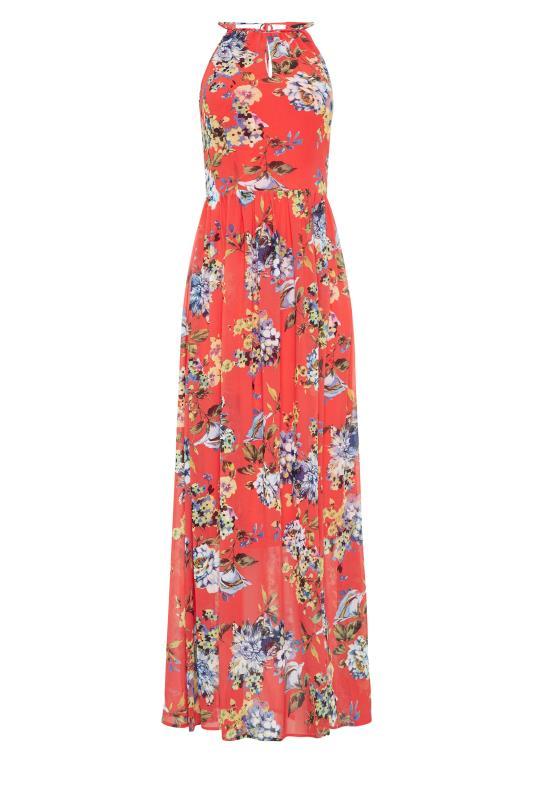 LTS Coral Floral Halter Neck Maxi Dress_f.jpg