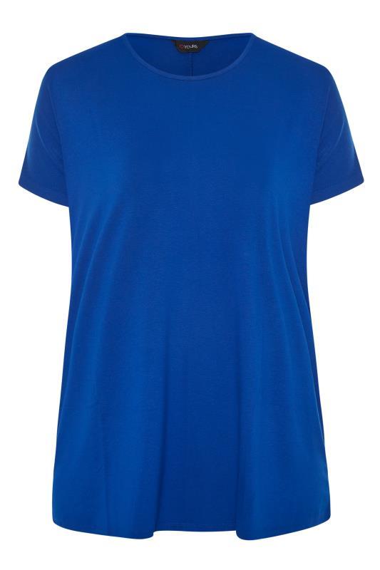 Cobalt Blue Dipped Hem T-Shirt_F.jpg