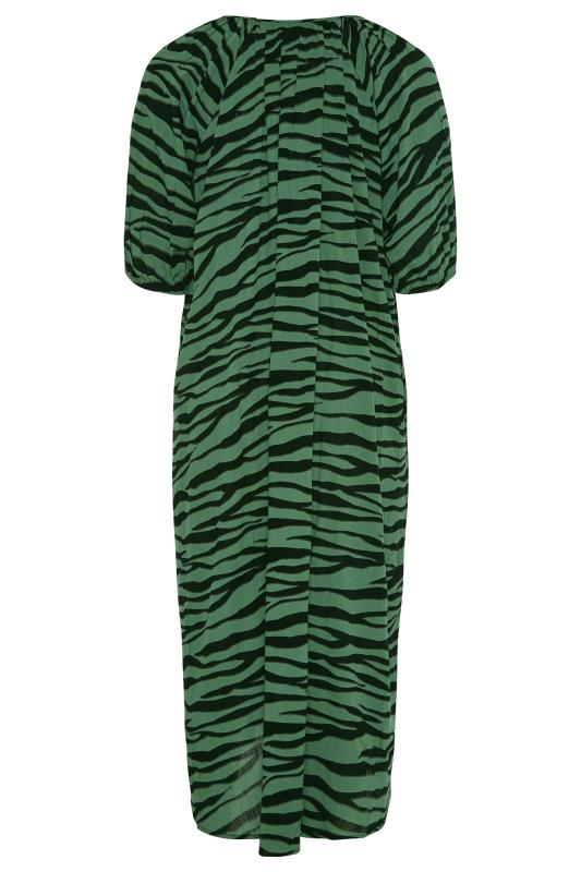 LIMITED COLLECTION Green Zebra Print Midaxi Dress_BK.jpg