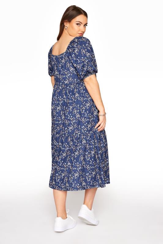 Blue Ditsy Print Square Neck Smock Midaxi Dress_C.jpg