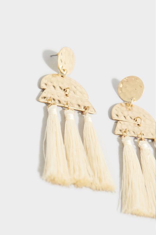 Gold Hammered Tassel Earrings_D.jpg