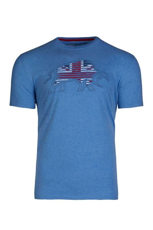 Plus Size  RAGING BULL Blue Slash Bull T-Shirt