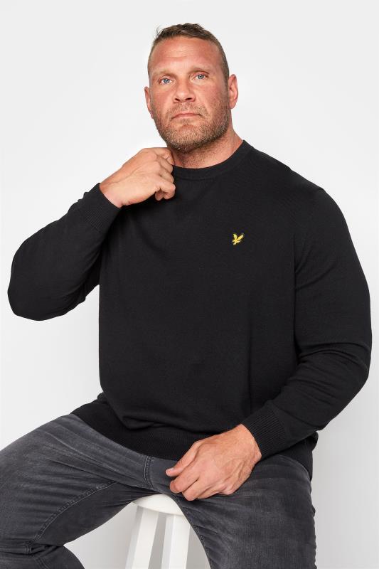 Plus Size  LYLE & SCOTT Black Crew Neck Knitted Jumper