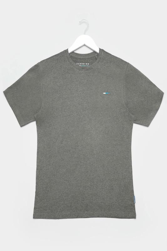 BadRhino Charcoal Grey Plain T-Shirt